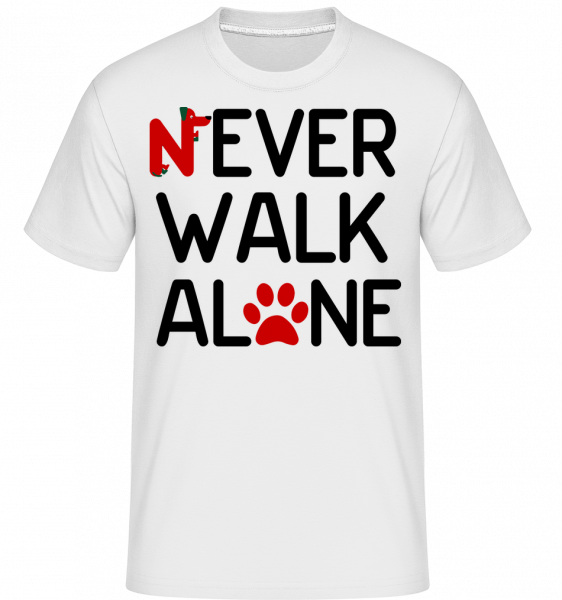 Never Walk Alone - Shirtinator Männer T-Shirt - Weiß - Vorn