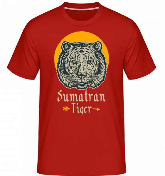 Sumatran Tiger -  Shirtinator Men's T-Shirt - Red - Front