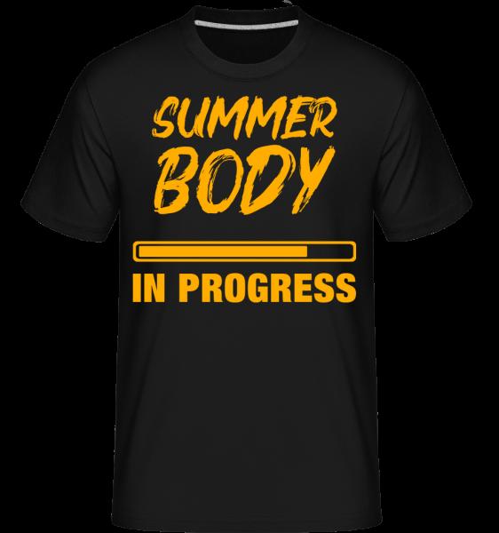 Summer Body in Progress - Shirtinator Männer T-Shirt - Schwarz - Vorn