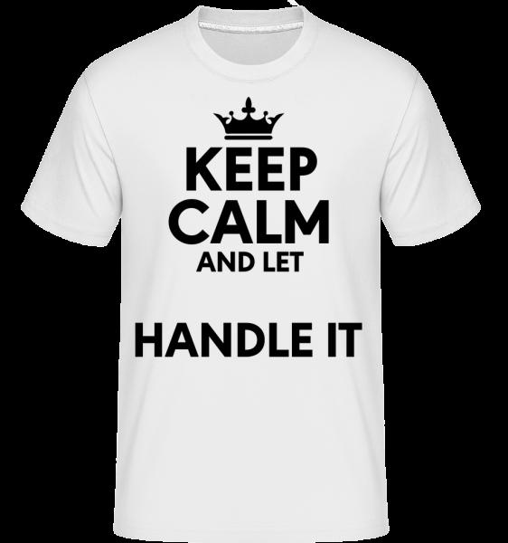 Keep Calm - Shirtinator Männer T-Shirt - Weiß - Vorn