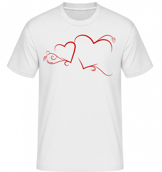 Hearts - Shirtinator Men's T-Shirt - White - Vorn