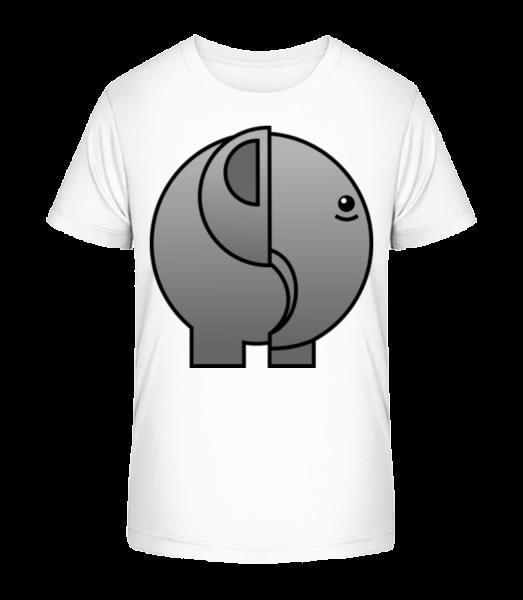 Elephant Comic - Kid's Premium Bio T-Shirt - White - Front