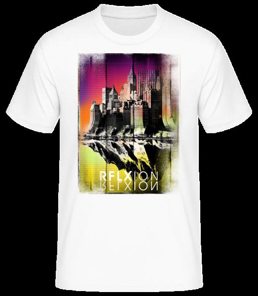 Reflexion - Men's Basic T-Shirt - White - Front
