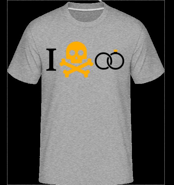 Marriage Skull - Shirtinator Men's T-Shirt - Heather grey - Vorn