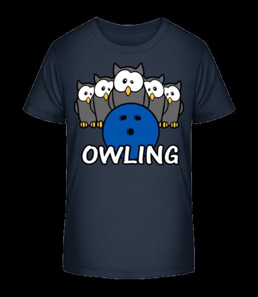 Owling - Kid's Premium Bio T-Shirt - Navy - Front