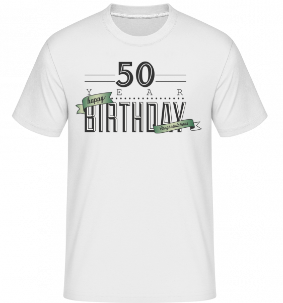 50 Birthday Sign -  Shirtinator Men's T-Shirt - White - Vorn