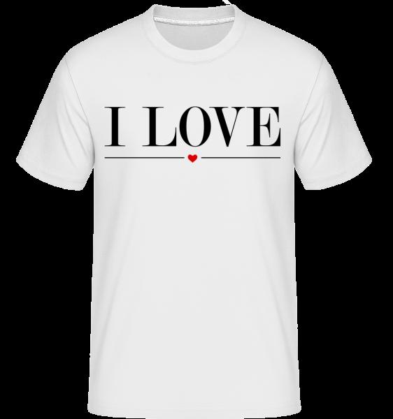 I Love - Shirtinator Men's T-Shirt - White - Vorn