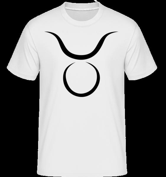 Stier Zeichen - Shirtinator Männer T-Shirt - Weiß - Vorn