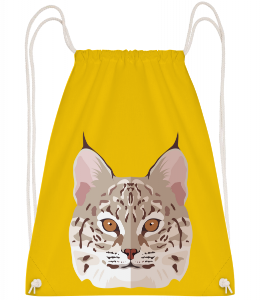 Wild Cat Comic Shadow - Drawstring Backpack - Yellow - Vorn