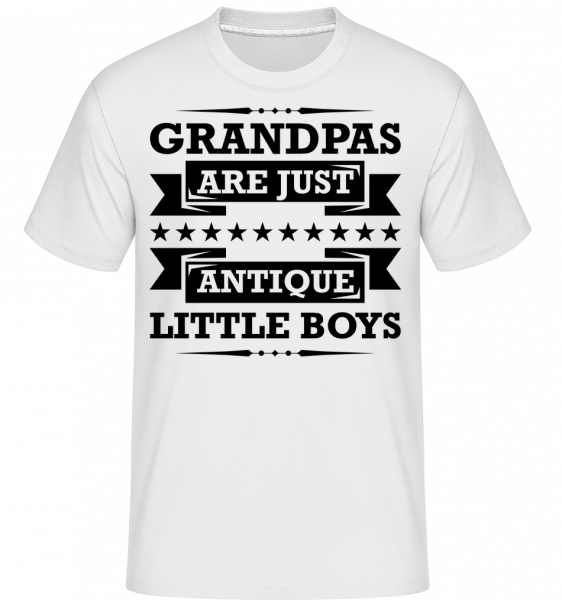 Grandpa's Antique -  Shirtinator Men's T-Shirt - White - Vorn