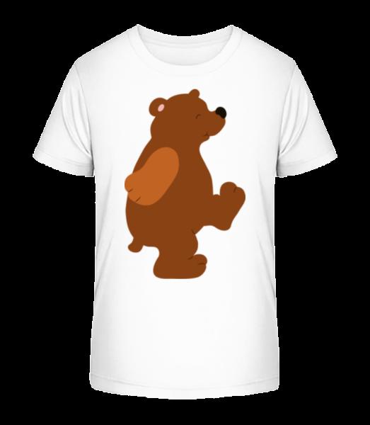 Kids Comic - Bear - Kid's Premium Bio T-Shirt - White - Front
