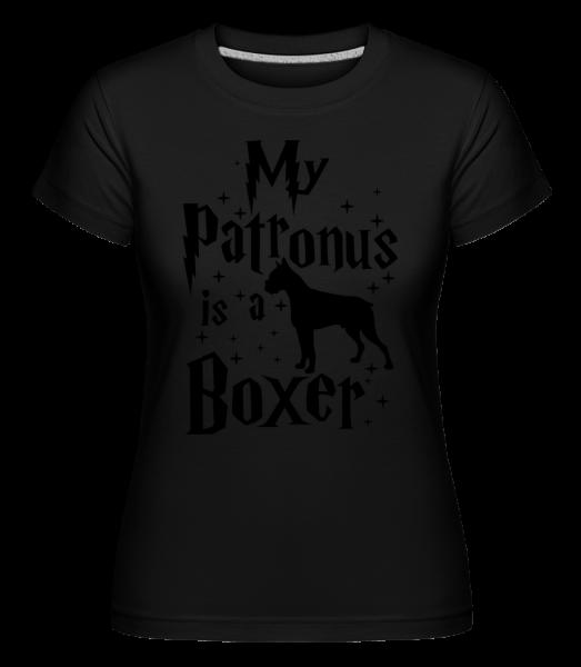 My Patronus Is A Boxer - Shirtinator Frauen T-Shirt - Schwarz - Vorn