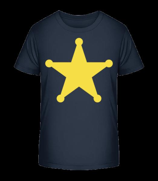 Stern Logo - Kinder Premium Bio T-Shirt - Marine - Vorn