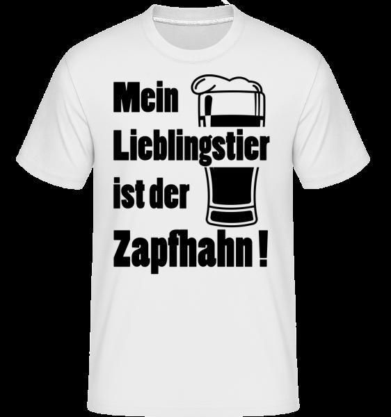 Lieblingstier Zapfhahn - Shirtinator Männer T-Shirt - Weiß - Vorn