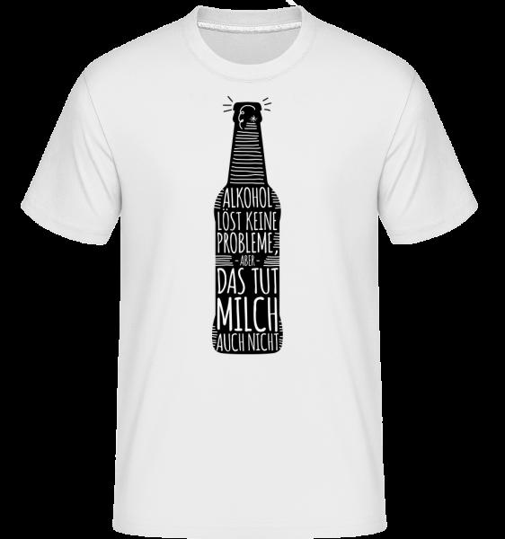 Alkohol Löst Keine Probleme - Shirtinator Männer T-Shirt - Weiß - Vorn