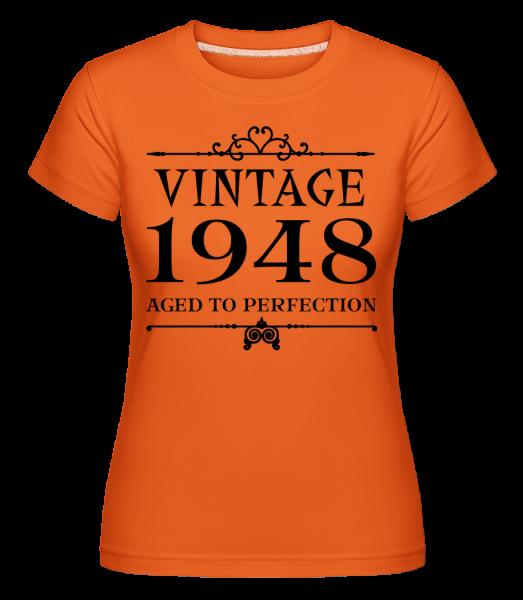 Vintage 1948 Perfection - Shirtinator Frauen T-Shirt - Orange - Vorn