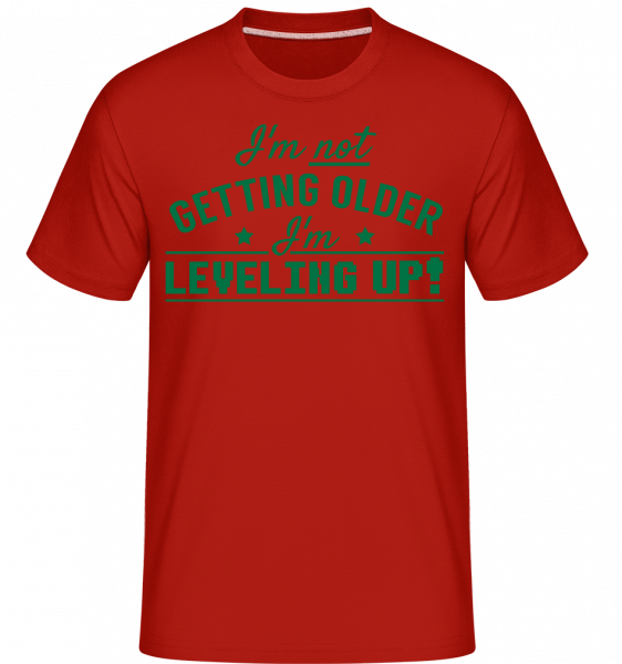I'm Leveling Up! - Shirtinator Men's T-Shirt - Red - Vorn