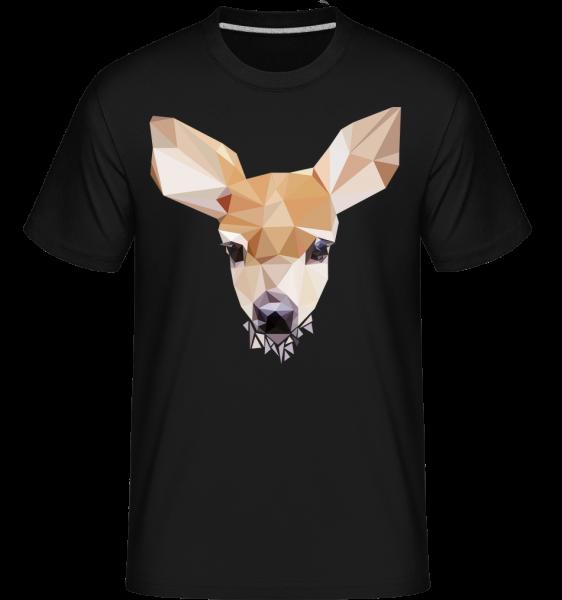Polygon Reh - Shirtinator Männer T-Shirt - Schwarz - Vorn
