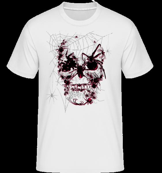 Totenkopf Spinnen - Shirtinator Männer T-Shirt - Weiß - Vorn