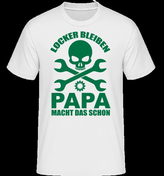 Locker Bleiben Papa Macht Das - Shirtinator Männer T-Shirt - Weiß - Vorn