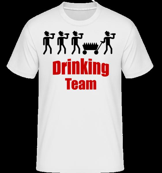 Drinking Team - Shirtinator Männer T-Shirt - Weiß - Vorn