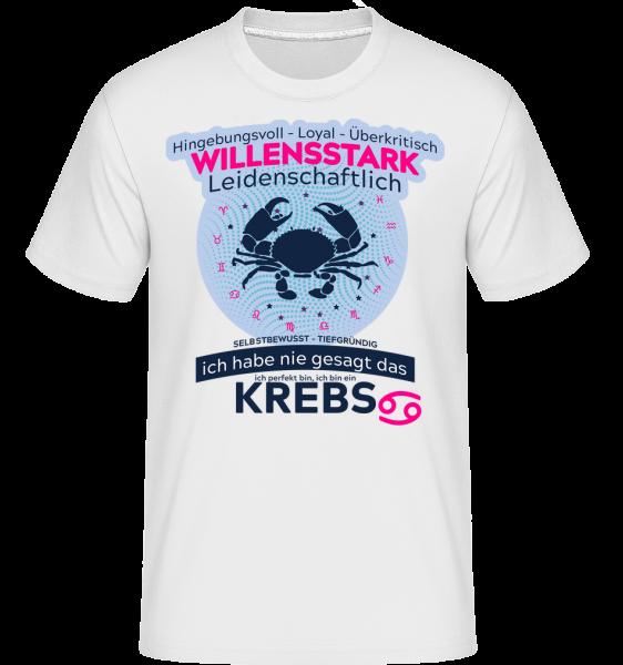 Sternzeichen Krebs - Shirtinator Männer T-Shirt - Weiß - Vorn