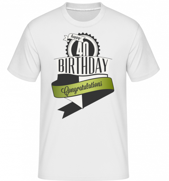 40 Birthday Congrats -  Shirtinator Men's T-Shirt - White - Vorn