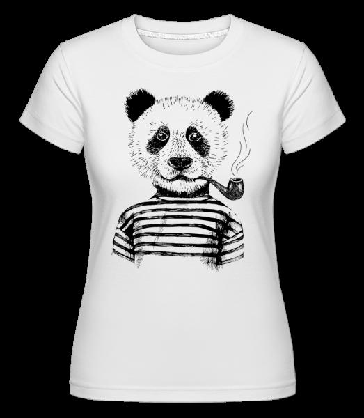 Hipster Panda -  Shirtinator Women's T-Shirt - White - Vorn