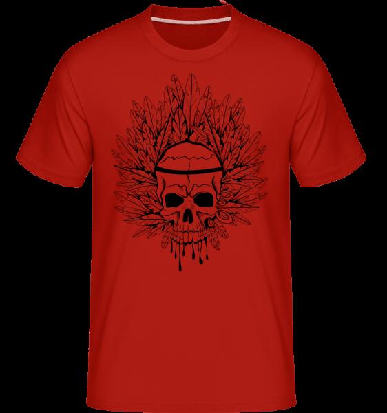 Skull Indian Tattoo -  Shirtinator Men's T-Shirt - Red - Vorn