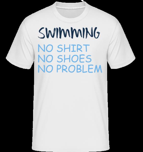 Swimming No Problems - Shirtinator Männer T-Shirt - Weiß - Vorn