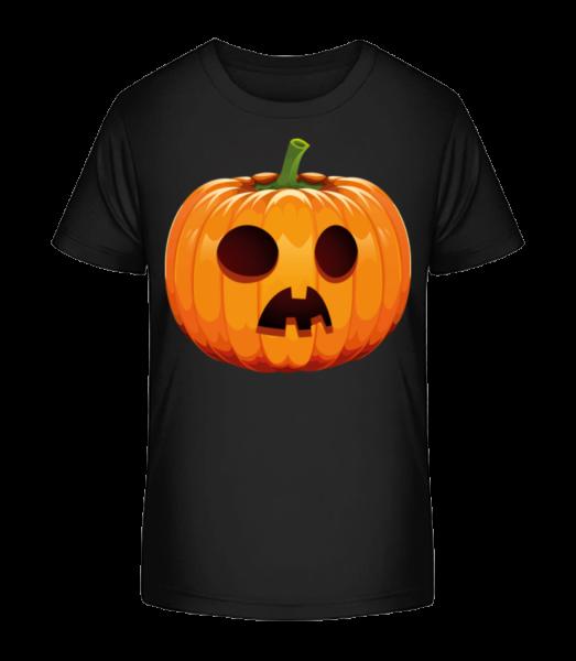 Astonished Pumpkin - Kid's Premium Bio T-Shirt - Black - Front