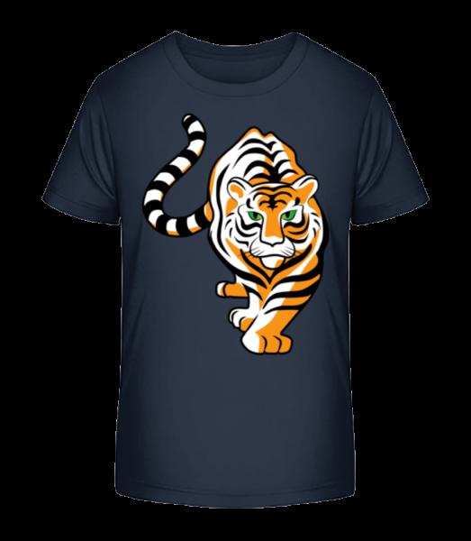 Tiger - Kinder Premium Bio T-Shirt - Marine - Vorn