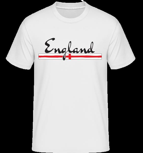 Fußball England - Shirtinator Männer T-Shirt - Weiß - Vorn