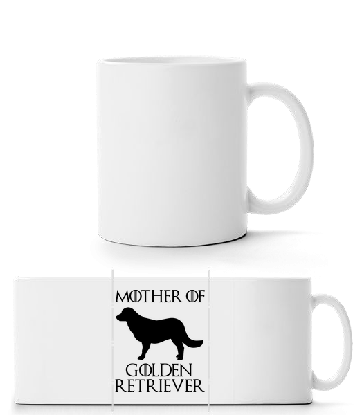 Mother Of Golden Retriever - Panorama Mug - White - Front