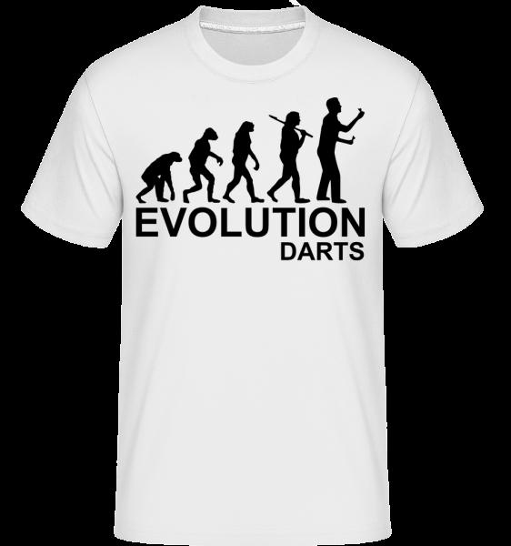 Darts Of Evolution - Shirtinator Männer T-Shirt - Weiß - Vorn