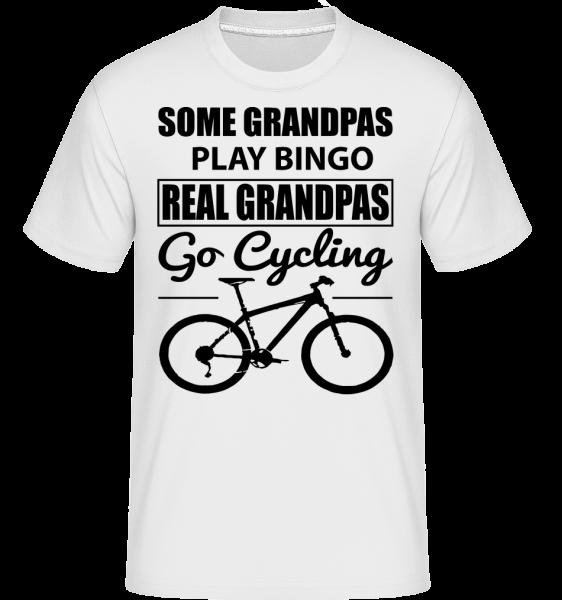 Real Granpas Go Cycling - Shirtinator Männer T-Shirt - Weiß - Vorn