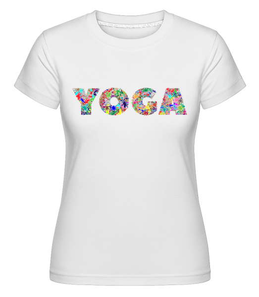 Yoga Flowers -  Shirtinator Women's T-Shirt - White - Vorn