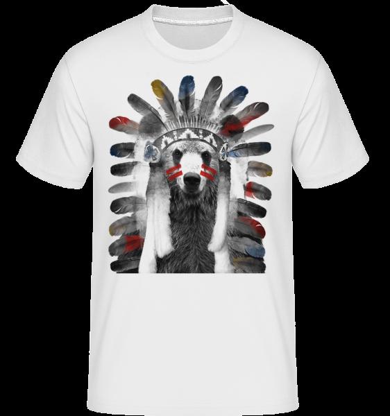 Indianer Bär - Shirtinator Männer T-Shirt - Weiß - Vorn