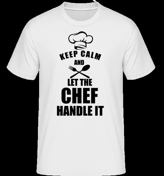 Keep Calm Chef -  Shirtinator Men's T-Shirt - White - Vorn