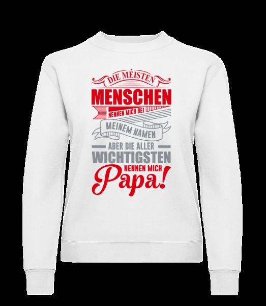 Die Wichtigsten Nennen Mich Papa - Frauen Pullover - Weiß - Vorn