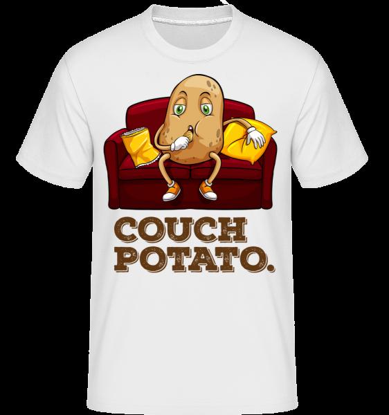 Couch Potato - Shirtinator Männer T-Shirt - Weiß - Vorn