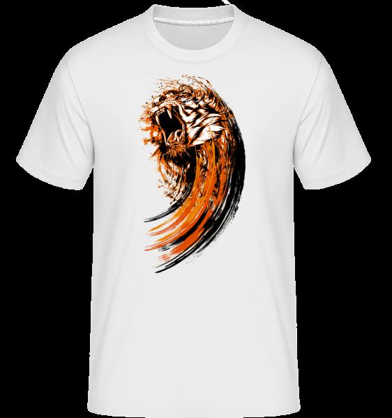 Brüllender Tiger - Shirtinator Männer T-Shirt - Weiß - Vorn