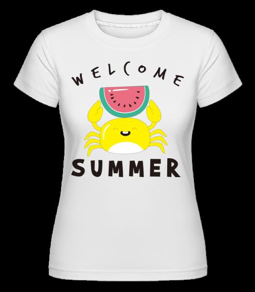 Welcome Summer Crab - Shirtinator Frauen T-Shirt - Weiß - Vorn