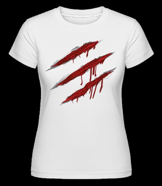 Blutige Kratzer - Shirtinator Frauen T-Shirt - Weiß - Vorn