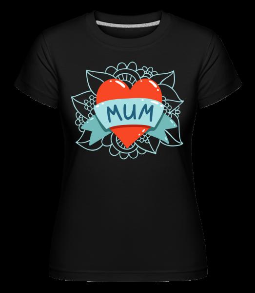 Mum Heart Icon - Shirtinator Frauen T-Shirt - Schwarz - Vorn